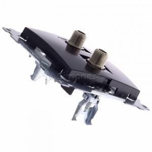 Simon 54 DASF2.01/48 - Gniazdo antenowe SAT typu F podwójne - Antracyt - Podgląd zdjęcia 360st. nr 3
