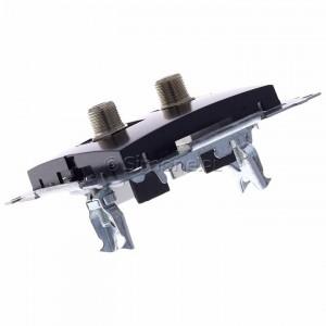 Simon 54 DASF2.01/48 - Gniazdo antenowe SAT typu F podwójne - Antracyt - Podgląd zdjęcia 360st. nr 5