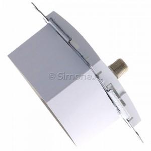 Simon 54 DASFRJ45.01/11 - Gniazdo antenowe SAT pojedyncze + Gniazdo komputerowe kat.6 - Biały - Podgląd zdjęcia 360st. nr 3