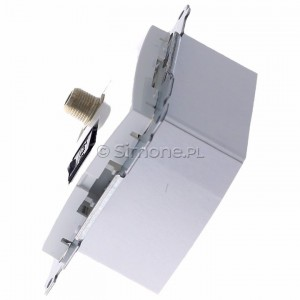 Simon 54 DASFRJ45.01/11 - Gniazdo antenowe SAT pojedyncze + Gniazdo komputerowe kat.6 - Biały - Podgląd zdjęcia 360st. nr 6