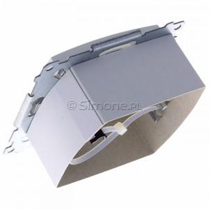 Simon 54 DASFRJ45.01/11 - Gniazdo antenowe SAT pojedyncze + Gniazdo komputerowe kat.6 - Biały - Podgląd zdjęcia 360st. nr 5