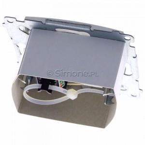 Simon 54 DASFRJ45.01/11 - Gniazdo antenowe SAT pojedyncze + Gniazdo komputerowe kat.6 - Biały - Podgląd zdjęcia 360st. nr 4
