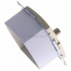 Simon 54 DASFRJ45.01/44 - Gniazdo antenowe SAT pojedyncze + Gniazdo komputerowe kat.6 - Złoty Mat - Podgląd zdjęcia 360st. nr 3