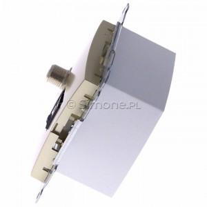 Simon 54 DASFRJ45.01/44 - Gniazdo antenowe SAT pojedyncze + Gniazdo komputerowe kat.6 - Złoty Mat - Podgląd zdjęcia 360st. nr 6