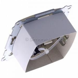 Simon 54 DASFRJ45.01/44 - Gniazdo antenowe SAT pojedyncze + Gniazdo komputerowe kat.6 - Złoty Mat - Podgląd zdjęcia 360st. nr 5