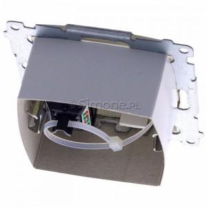 Simon 54 DASFRJ45.01/44 - Gniazdo antenowe SAT pojedyncze + Gniazdo komputerowe kat.6 - Złoty Mat - Podgląd zdjęcia 360st. nr 4