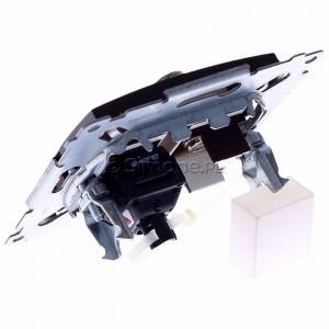 Simon 54 DASFRJ45.01/46 - Gniazdo antenowe SAT pojedyncze + Gniazdo komputerowe kat.6 - Brąz Mat - Podgląd zdjęcia 360st. nr 5