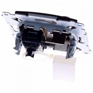 Simon 54 DASFRJ45.01/46 - Gniazdo antenowe SAT pojedyncze + Gniazdo komputerowe kat.6 - Brąz Mat - Podgląd zdjęcia 360st. nr 4