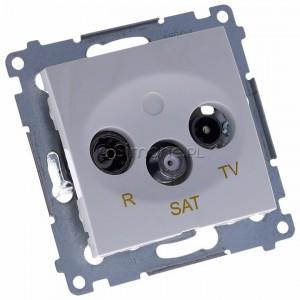 Simon 54 DASK.01/11 - Gniazdo antenowe R-TV-SAT końcowe/zakończeniowe - Biały - Podgląd zdjęcia 360st. nr 1