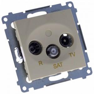 Simon 54 DASK.01/41 - Gniazdo antenowe R-TV-SAT końcowe/zakończeniowe - Kremowy - Podgląd zdjęcia 360st. nr 1