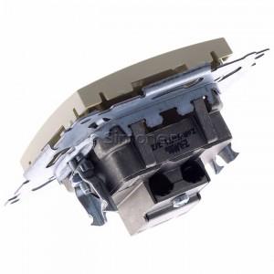 Simon 54 DASK.01/41 - Gniazdo antenowe R-TV-SAT końcowe/zakończeniowe - Kremowy - Podgląd zdjęcia 360st. nr 5