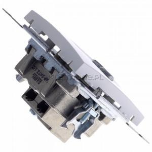 Simon 54 DASK2.01/11 - Gniazdo antenowe RTV-SAT-SAT satelitarne podwójne - Biały - Podgląd zdjęcia 360st. nr 3