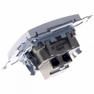 Simon 54 DASK2.01/11 - Gniazdo antenowe RTV-SAT-SAT satelitarne podwójne - Biały - Podgląd zdjęcia 360st. nr 5