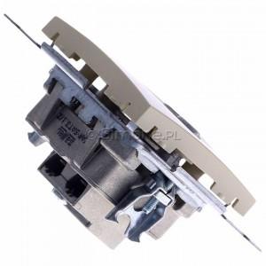 Simon 54 DASK2.01/41 - Gniazdo antenowe RTV-SAT-SAT satelitarne podwójne - Kremowy - Podgląd zdjęcia 360st. nr 3