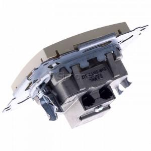 Simon 54 DASK2.01/41 - Gniazdo antenowe RTV-SAT-SAT satelitarne podwójne - Kremowy - Podgląd zdjęcia 360st. nr 5