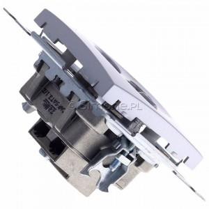 Simon 54 DASK2.01/43 - Gniazdo antenowe RTV-SAT-SAT satelitarne podwójne - Srebrny Mat - Podgląd zdjęcia 360st. nr 3