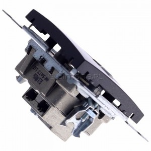 Simon 54 DASK2.01/48 - Gniazdo antenowe RTV-SAT-SAT satelitarne podwójne - Antracyt - Podgląd zdjęcia 360st. nr 3