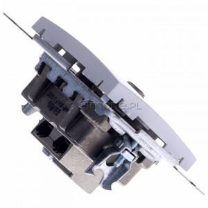Simon 54 DASP.01/11 - Gniazdo antenowe R-TV-SAT przelotowe - Biały - Podgląd zdjęcia 360st. nr 3