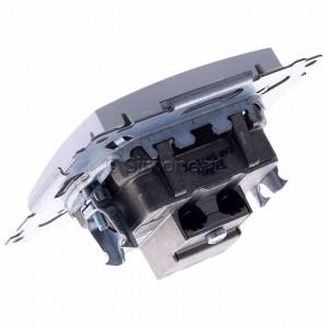 Simon 54 DASP.01/11 - Gniazdo antenowe R-TV-SAT przelotowe - Biały - Podgląd zdjęcia 360st. nr 5