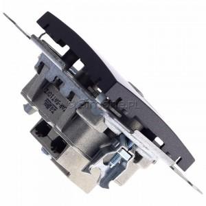 Simon 54 DASP.01/48 - Gniazdo antenowe R-TV-SAT przelotowe - Antracyt - Podgląd zdjęcia 360st. nr 3