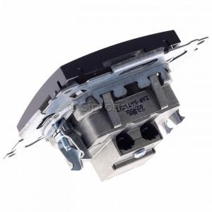 Simon 54 DASP.01/48 - Gniazdo antenowe R-TV-SAT przelotowe - Antracyt - Podgląd zdjęcia 360st. nr 5