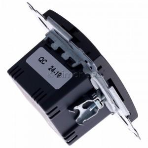 Simon 54 DC2USB.01/48 - Podwójna ładowarka USB - Antracyt - Podgląd zdjęcia 360st. nr 3