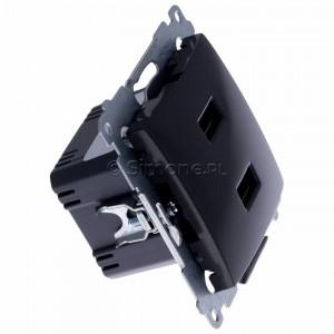 Simon 54 DC2USB.01/48 - Podwójna ładowarka USB - Antracyt - Podgląd zdjęcia 360st. nr 2