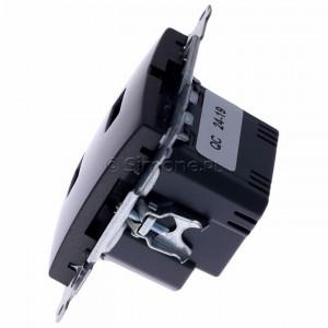 Simon 54 DC2USB.01/48 - Podwójna ładowarka USB - Antracyt - Podgląd zdjęcia 360st. nr 6