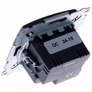 Simon 54 DC2USB.01/48 - Podwójna ładowarka USB - Antracyt - Podgląd zdjęcia 360st. nr 5