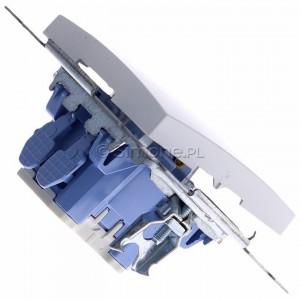 Simon 54 DD1.01/11 - Przycisk dzwonkowy 10A - Biały - Podgląd zdjęcia 360st. nr 3