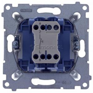 Simon 54 DD1.01/11 - Przycisk dzwonkowy 10A - Biały - Podgląd zdjęcia 360st. nr 9