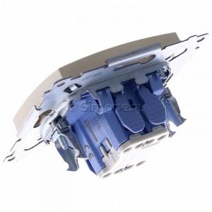 Simon 54 DD1L.01/41 - Przycisk dzwonkowy z podświetleniem typu LED w kolorze niebieskim 10A - Kremowy - Podgląd zdjęcia 360st. nr 5
