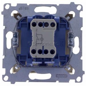 Simon 54 DD1L.01/41 - Przycisk dzwonkowy z podświetleniem typu LED w kolorze niebieskim 10A - Kremowy - Podgląd zdjęcia 360st. nr 9