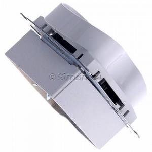 Simon 54 DG2MZ.01/11 - Gniazdo podwójne bez bolca uziemiającego z przesłoną torów prądowych - Biały - Podgląd zdjęcia 360st. nr 3