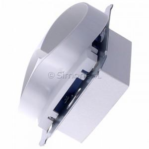 Simon 54 DG2MZ.01/11 - Gniazdo podwójne bez bolca uziemiającego z przesłoną torów prądowych - Biały - Podgląd zdjęcia 360st. nr 6