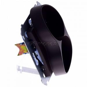 Simon 54 DG2MZ.01/46 - Gniazdo podwójne bez bolca uziemiającego z przesłoną torów prądowych - Brąz Mat - Podgląd zdjęcia 360st. nr 2