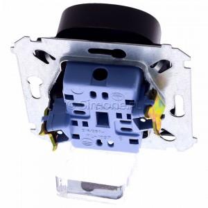 Simon 54 DG2MZ.01/46 - Gniazdo podwójne bez bolca uziemiającego z przesłoną torów prądowych - Brąz Mat - Podgląd zdjęcia 360st. nr 4