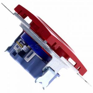 Simon 54 DGD1.01/22 - Gniazdo pojedyncze z bolcem uziemiającym typu DATA - Czerwony - Podgląd zdjęcia 360st. nr 3