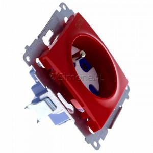 Simon 54 DGD1.01/22 - Gniazdo pojedyncze z bolcem uziemiającym typu DATA - Czerwony - Podgląd zdjęcia 360st. nr 2