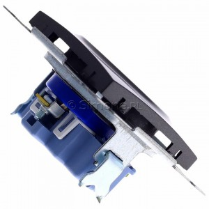 Simon 54 DGD1.01/48 - Gniazdo pojedyncze z bolcem uziemiającym typu DATA - Antracyt - Podgląd zdjęcia 360st. nr 3
