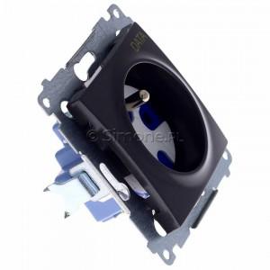 Simon 54 DGD1.01/48 - Gniazdo pojedyncze z bolcem uziemiającym typu DATA - Antracyt - Podgląd zdjęcia 360st. nr 2