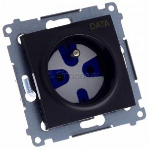 Simon 54 DGD1.01/48 - Gniazdo pojedyncze z bolcem uziemiającym typu DATA - Antracyt - Podgląd zdjęcia 360st. nr 1