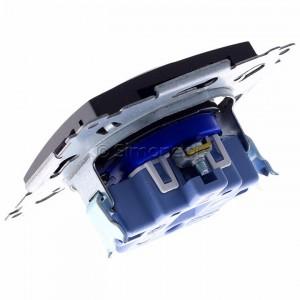Simon 54 DGD1.01/48 - Gniazdo pojedyncze z bolcem uziemiającym typu DATA - Antracyt - Podgląd zdjęcia 360st. nr 5