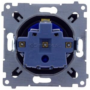 Simon 54 DGD1.01/48 - Gniazdo pojedyncze z bolcem uziemiającym typu DATA - Antracyt - Podgląd zdjęcia 360st. nr 9