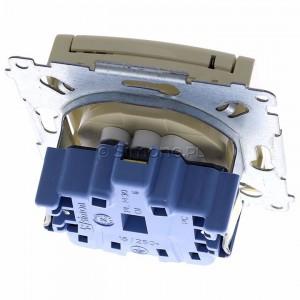 Simon 54 DGZ1BZ.01/41 - Gniazdo hermetyczne z bolcem uziemiającym, przesłoną torów prądowych i klapką w kolorze wyrobu - Kremowy - Podgląd zdjęcia 360st. nr 4