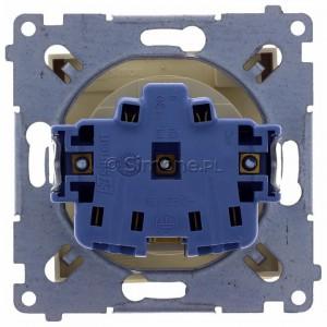 Simon 54 DGZ1BZ.01/41 - Gniazdo hermetyczne z bolcem uziemiającym, przesłoną torów prądowych i klapką w kolorze wyrobu - Kremowy - Podgląd zdjęcia 360st. nr 9