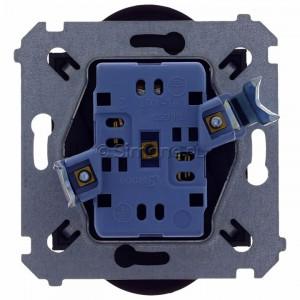 Simon 54 DGZ2MZ.01/46 - Gniazdo podwójne z bolcem uziemiającym i przesłoną torów prądowych - Brąz Mat - Podgląd zdjęcia 360st. nr 9