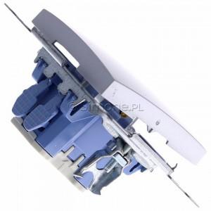 Simon 54 DP1.01/43 - Przycisk zwierny pojedyncze 10A - Srebrny Mat - Podgląd zdjęcia 360st. nr 3