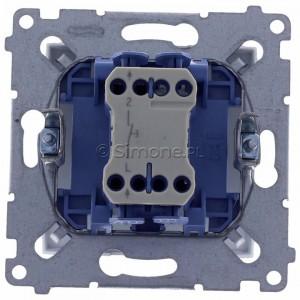 Simon 54 DP1.01/43 - Przycisk zwierny pojedyncze 10A - Srebrny Mat - Podgląd zdjęcia 360st. nr 9