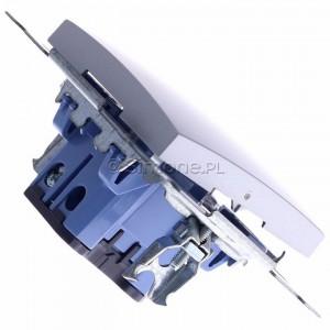 Simon 54 DP1A.01/43 - Przycisk zwierny pojedyncze 16A - Srebrny Mat - Podgląd zdjęcia 360st. nr 3